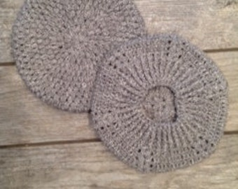 Crochet adult gray beret