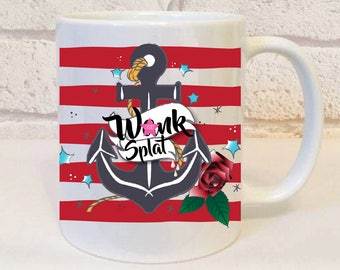 W*nk Splat Mug, Offensive Gift, Insulting Mug Gift, Profanity Mug, Profanity Gifts, Insulting Birthday Gift, Insults, Funny, Humour, Coffee