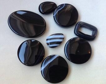 Collection of Onyx Beads, Sardonyx beads  gemstones, Genuine Onyx Gemstone, Sardonyx gemstones
