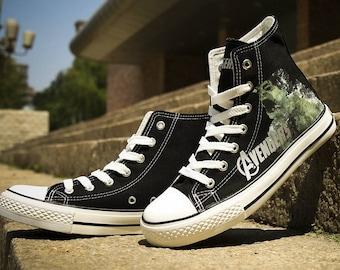 Avengers shoes Custom Sneakers Avengers Sneakers Hi Tops shoes Birthday gift Hulk shoes