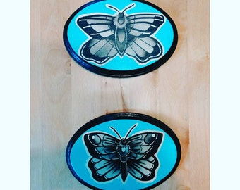 Hand-painted Moths, SOLD AS A SET