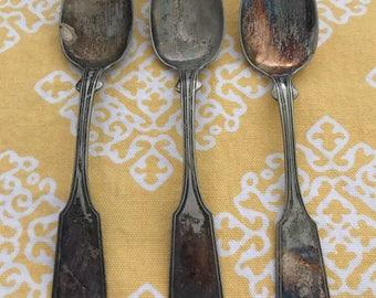 3 Vintage Silverplate Spoons