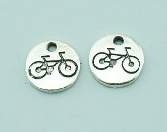 20pcs 10mm Antique Silver Bike Charm Pendants,Bicycle Charm Pendants Z1208