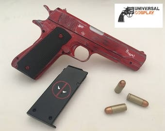 Deadpool's Pistol - M1911 Colt 45 - Realistic Prop Toy Gun for Cosplay w/Magazine + Bullets
