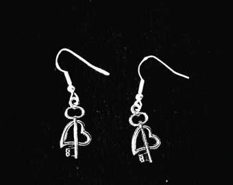 Heart and Arrow Earrings