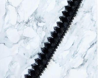 Vintage Black Lace Choker