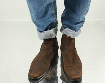 Vintage 90' Beautiful Dark Brown Suede Dress Boots