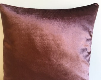 Brown Velvet Pillow Cover, Pillow Velvet, 18X18 Brown Pillow, Designer Pillow, Velvet Pillows, Velvet Cushion Covers, Brown Sofa Pillow