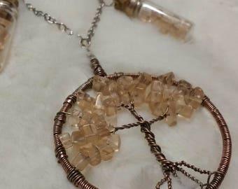 Handmade Beach Glass Tree of Life Pendant