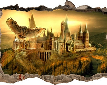 Hogwarts Harry Potter Smashed Wall Decal Wall Sticker Art Mural H326