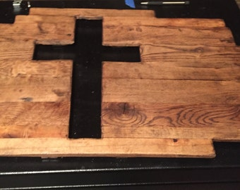 Wood cross wall hanging