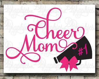 Cheer Mom/ SVG File/ Jpg Dxf Png/Digital Files