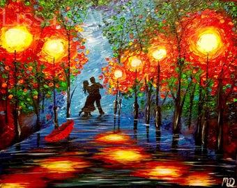 Dancing in the Rain 11x17 Print