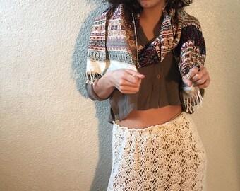 White Crocheted Vintage Skirt