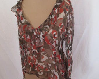 Top in silk Moschino size 44 to-64%