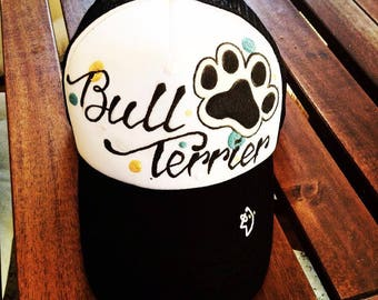 Dog Breed Handpainted Cap - Customize the name of the dog and the breed