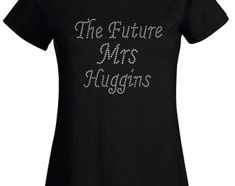 Future Mrs T-Shirt, Hen Do T-Shirt, Crystal Rhinestone,  Rhinestone T-Shirt, Hen do, Party, Custom