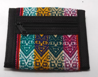 Manta Trifold Wallet Cotton/Velcro From Peru New Old Stock  - C