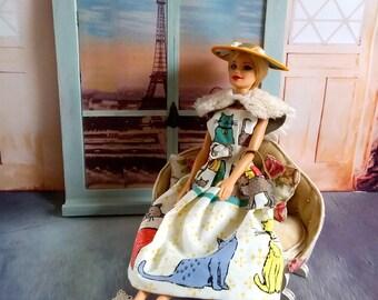 Barbie clothes, Doll clothes, Barbie outfit, Retro Barbie clothes, Barbie dress, Doll clothes, Barbie Hat, Barbie bag