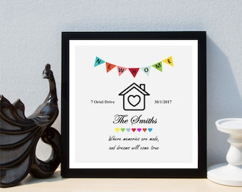 Personalised New Home House Framed Print