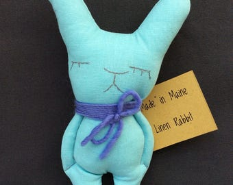 SALE!!  Tiny linen bunny
