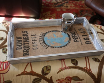 Grayish distressed and whitewashed serving tray
