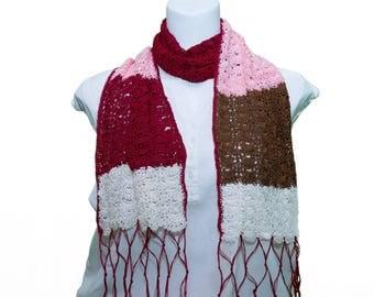 Crochet silk thread scarves and stoles