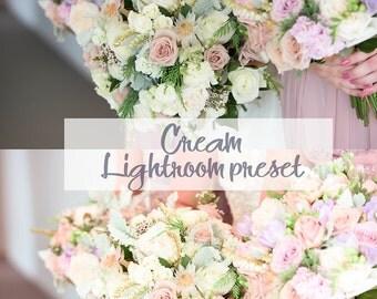Cream Lightroom preset Soft Lightroom Preset Wedding Lightroom Preset Bride preset Light color preset wedding overlays soft tone preset