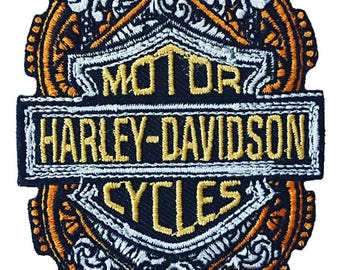 Harley Davidson Motorcycles Embroidered Iron On Patch