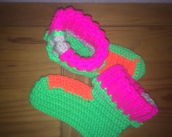 Self crocheted socks size S (36-38)
