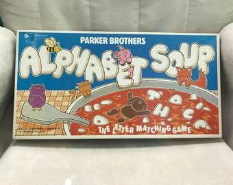 Vintage 1981 Children's Game Alphabet Soup