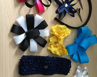 Baby hairbow interchangeable system:12 pieces total
