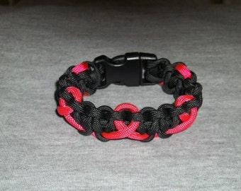 Breast Cancer Paracord Bracelet