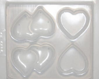 Resin Assorted Hearts Jewellery Mould RM 1850