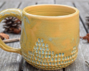 Imprinted Green Clay Mug III