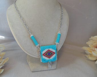 Turquoise Color Amulet Bag