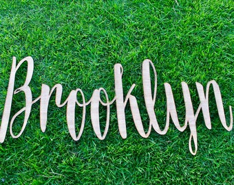 Personalized large laser cut name sign