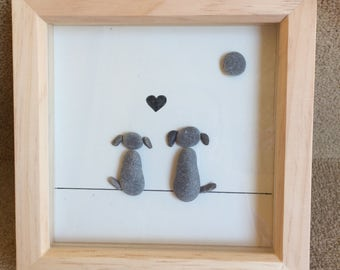 Pebble art - Dogs