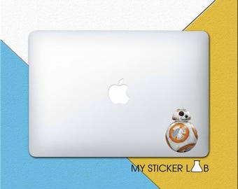 BB8 Star Wars MacBook Decal BB8 MacBook Sticker Star Wars BB8 Decal Star Wars BB-8 Sticker Star Wars Robot Droid Ball R2 Laptop Decal bn045