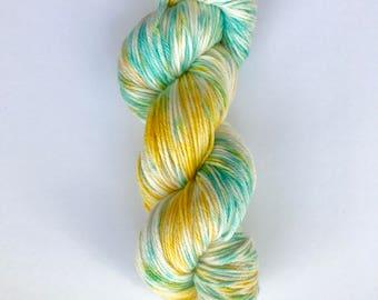 Hand Dyed Yarn/Sport Weight/76% Superwash Merino, 25 Nylon