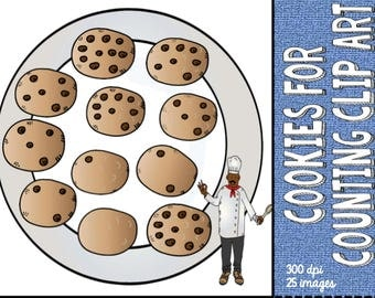 Cookie clip art for counting - number bonds to 10