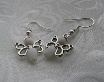 Little white butterfly earrings