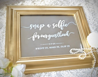 Mirror Selfie Booth Sign
