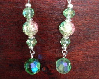 Green beautiful earrings
