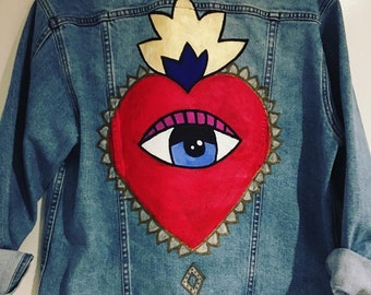 Hand Painted Jean Jacket
