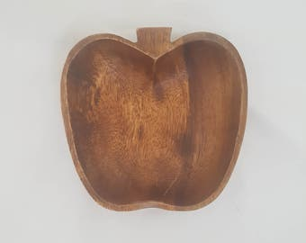 Apple Shaped Timber Bowl