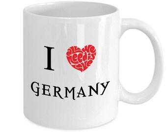 I Love Germany Coffee Mug - Gift Idea For Men Women