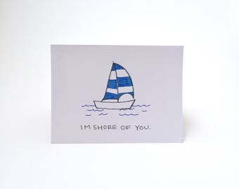 Im Shore Of You Greeting Card
