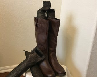 Boot savers are perfect for preserving your boots from wear and tear of flopping over in your closet.  The