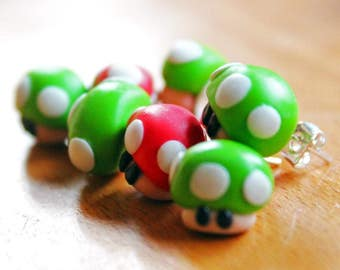 Earrings mushroom Mario Bros